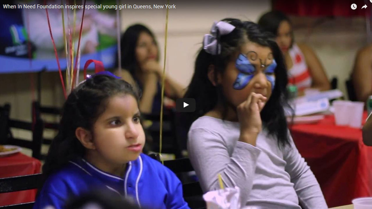 When In Need Foundation inspires special young girl in Queens, New York